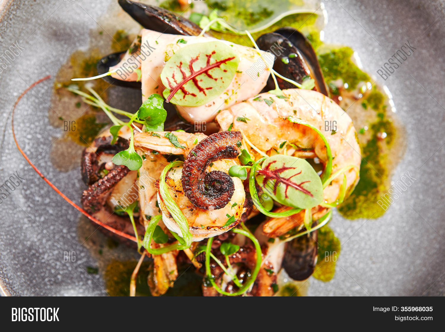 Seafood Assorted Image Photo Free Trial Bigstock