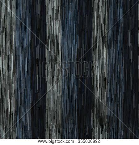 Spliced Vector Broken Stripe Texture. Variegated Mottled Vertical Line Background. Seamless Rough Gr