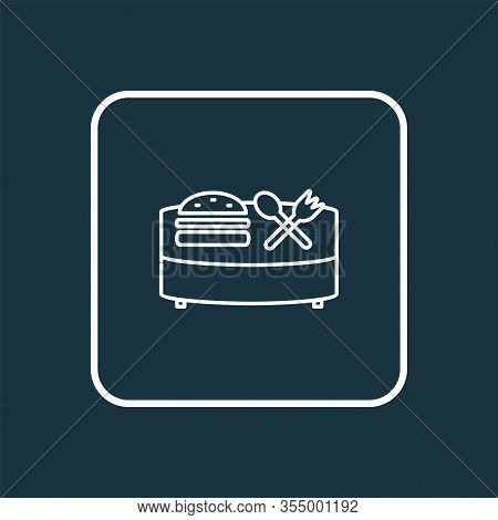 Food Court Icon Line Symbol. Premium Quality Isolated Banquet Element In Trendy Style.