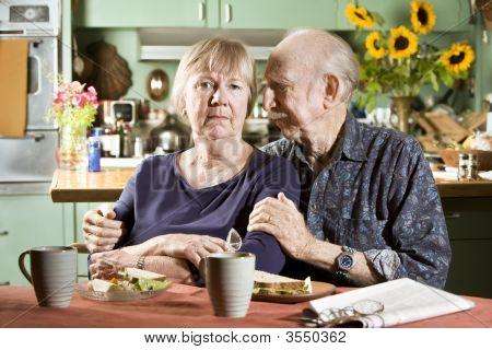 Portrait Of Worried Senior Couple