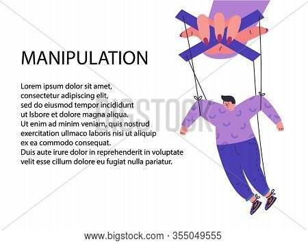 A Woman Manipulates And Abuses A Man.manipulation Female Hand.unhealthy Toxic Relationships Where A