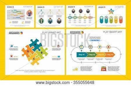 Colorful Marketing Or Management Concept Infographic Charts Set. Business Design Elements For Presen