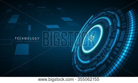 Blue Speed Cyberspace Technology Abstract Vector Background,virtual Reality Innovation Automotive Ba