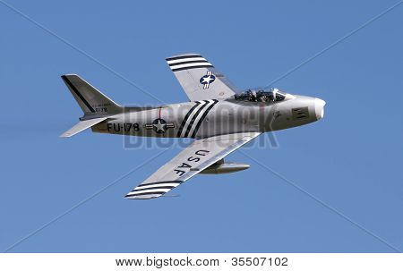 F86 Sabre Displaying At Airshow