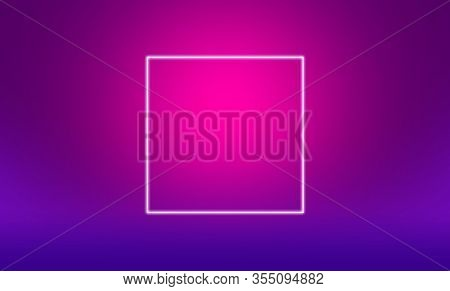 White square outline on purple and pink