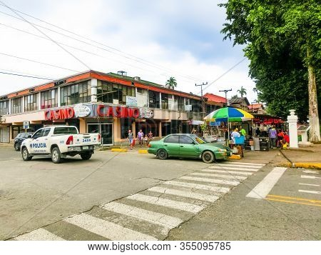 Puerto Limon, Costa Rica - December 8, 2019: A Typical Street In The Cruise Ship Port Of Puerto Limo