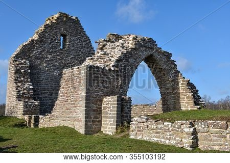 Ancient Church Ruin By Graborg At The Island Oland In Sweden