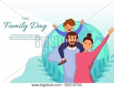 Happy International Family Day. Family Day. Family Day background. Family Day poster. Family Day illustration. Family Day banners. Family day Vectors. Family Day Vector Illustration. International Family Day template. Family Day Out Cartoon Vector Horizon