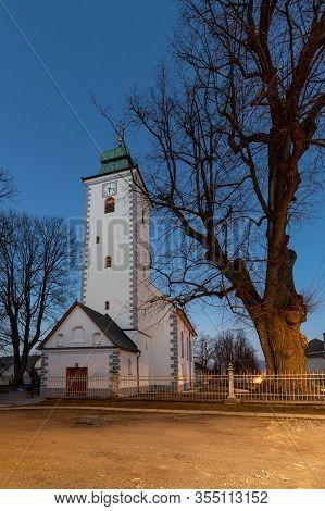 Church In Klastor Pod Znievom Village In Turiec Region, Slovakia.
