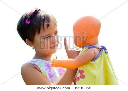 A Little Girl Teaches Her Doll  The Rules