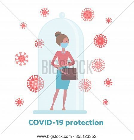 Covid-19 Quarantine, Restriction, Keep Out Or Protection Concept, 2019-ncov Coronavirus Pathogens Mo