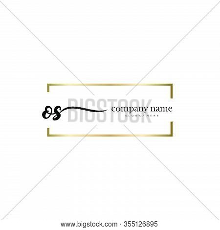 Os Initial Handwriting Minimalist Logo Vector. Logo For Beauty, Skincare, Fashion And Business