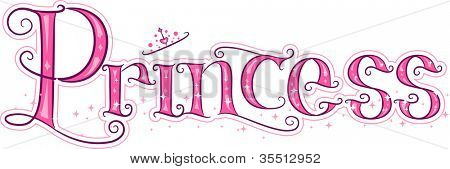 Text Illustration Featuring the Word Princess
