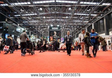 Eskisehir, Turkey - December 14, 2019: People Visiting The 2nd Eskisehir Book Fair Held In Tuyap Fai