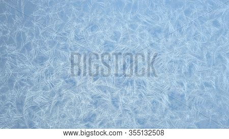 Fully Covered Frosted Frame. Frosted Patterns On The Glass. 3D R