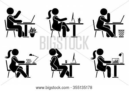 Sitting Desk Icon