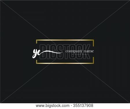 Ye Initial Handwriting Minimalist Logo Vector. Logo For Beauty, Skincare, Fashion And Business