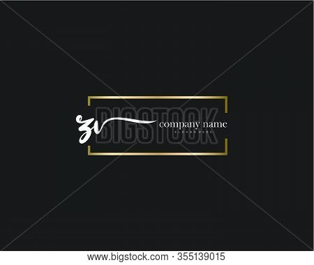 Zv Initial Handwriting Minimalist Logo Vector. Logo For Beauty, Skincare, Fashion And Business