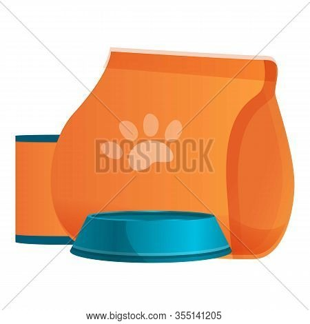 Homeless Shelter Animal Food Icon. Cartoon Of Homeless Shelter Animal Food Vector Icon For Web Desig