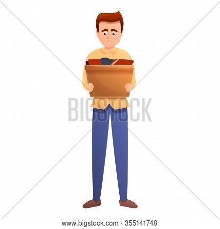 Unemployed Candidate Man Icon. Cartoon Of Unemployed Candidate Man Vector Icon For Web Design Isolat