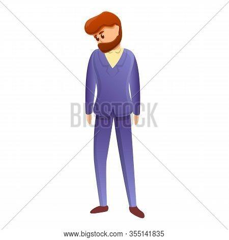 Sad Bankrupt Man Icon. Cartoon Of Sad Bankrupt Man Vector Icon For Web Design Isolated On White Back