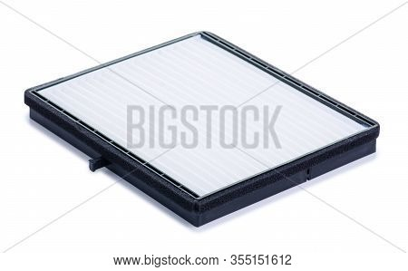 Cabin Air Filter Auto On White Background Isolation