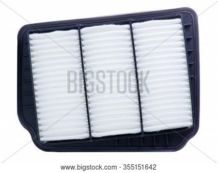 New Auto Air Filter On White Background Isolation
