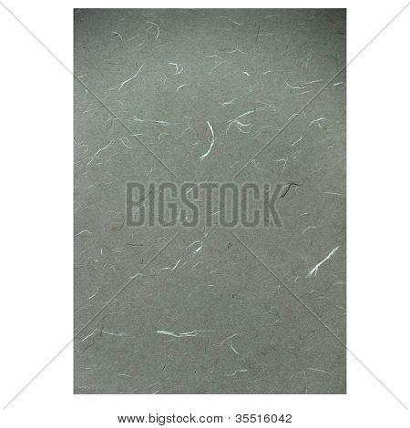 Grey Rice Paper Texture On White Background
