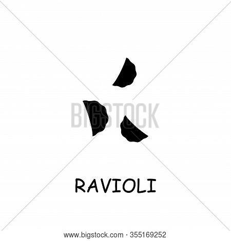 Ravioli Flat Vector Icon. Hand Drawn Style Design Illustrations.