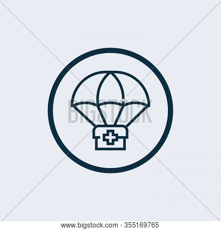 Medical Humanitarian Aid Icon. Outline Medical Humanitarian Aid Icon For Web Design Isolated On Whit