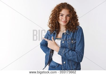 Confdent Daring Attractive Sassy Young 20s Redhead Girl Freckles Pimples Smirking Devious Self-assur