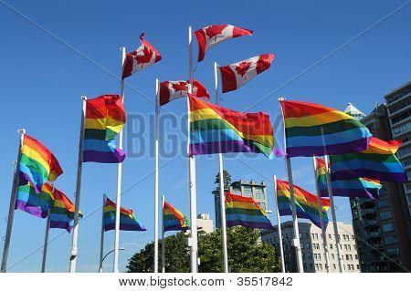 Gay Pride Rainbow Flags, Vancouver
