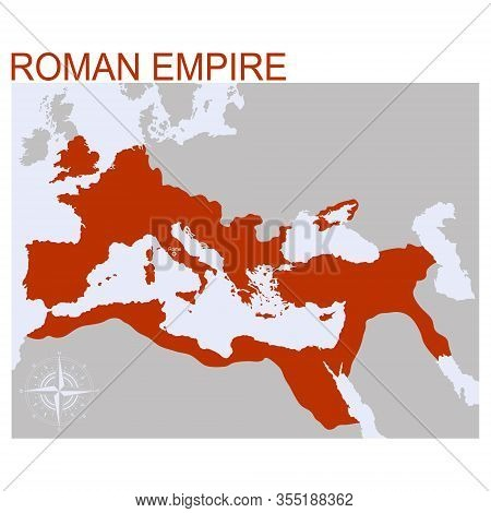 Vector Map Of The Roman Empire For Your Design