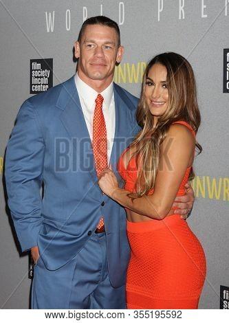 NEW YORK - JUL 14: John Cena (L)and Brie Bella attend the world premiere of