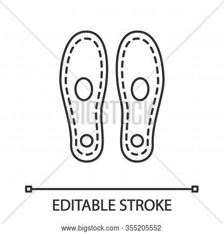 Orthopedic Insoles Linear Icon. Arch Support. Thin Line Illustration. Orthotic Insoles. Shoe Pads. F