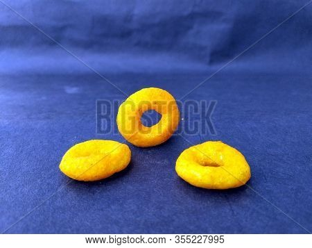 Some Yellow Eatable Food Isolated On Seamless Background