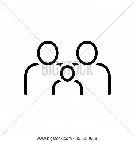 Black Line Icon For Familiar Acquainted Cognizant Aware Conscious Well-informed Well-founded