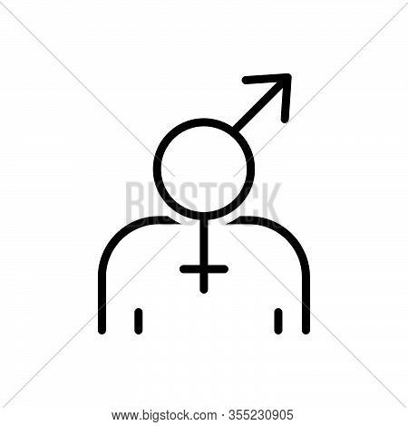 Black Line Icon For Gender Sex Dong Pintle Sexuality Physicality Masculine Neuter