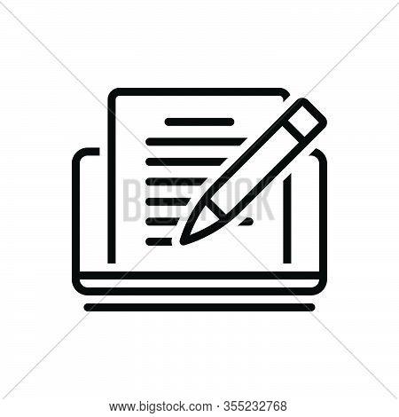 Black Line Icon For Editor Copyholder Rewriter Deskman Writer Publishing Editorial Editable