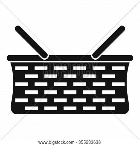 Wicker Basket Icon. Simple Illustration Of Wicker Basket Vector Icon For Web Design Isolated On Whit