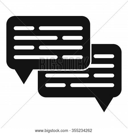Chat Request Icon. Simple Illustration Of Chat Request Vector Icon For Web Design Isolated On White