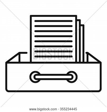 Request Archive Folder Icon. Outline Request Archive Folder Vector Icon For Web Design Isolated On W