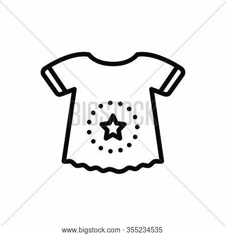 Black Line Icon For Body-suit Shirt Cloth Dress Fashion Garment Baby-cloth  Infant