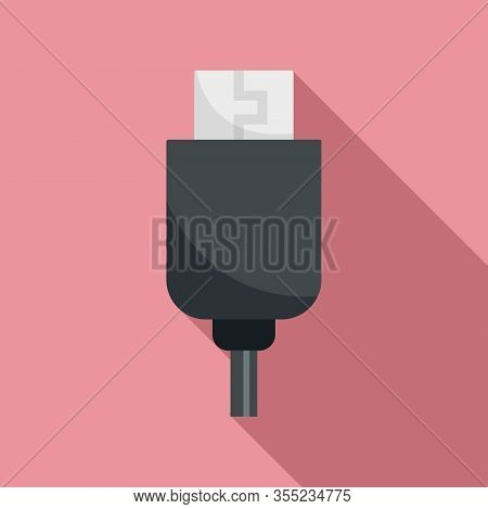 Phone Usb Cable Icon. Flat Illustration Of Phone Usb Cable Vector Icon For Web Design
