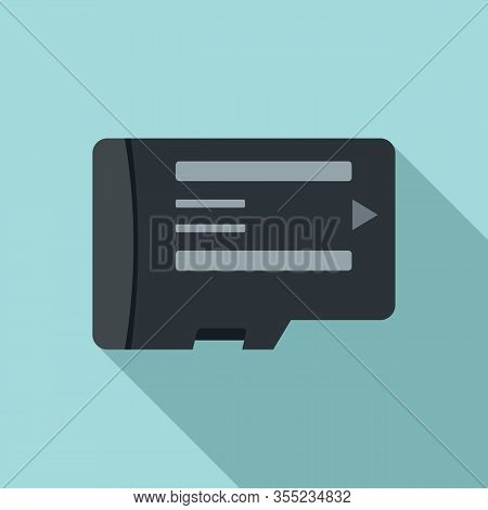 Phone Micro Sd Card Icon. Flat Illustration Of Phone Micro Sd Card Vector Icon For Web Design