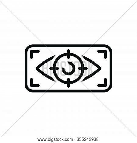 Black Line Icon For Viewer Observer Onlooker Spectator Watcher Eyewitness Looker-on Eye