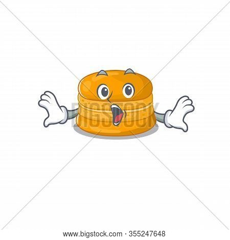 A Cartoon Character Of Orange Macaron Making A Surprised Gesture