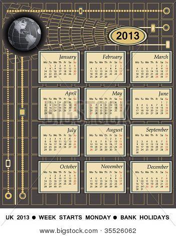Calendar 2013 - Uk Version