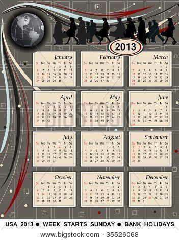 Calendar 2013 - Usa