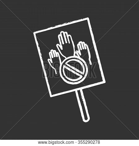 Protest Banner Chalk Icon. Protest Vote. Abstention. Anti-voting. Political Or Social Movement. Poli